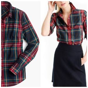 "Plaid JCrew ""Perfect Fit"" shirt size xs"